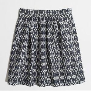 J.Crew Factory jacquard skirt, size 6, NWT!